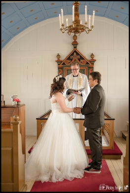 Iceland Wedding Ceremony at Lakeside Country Church Iceland Wedding Photographer