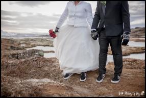 Iceland Winter Wedding Thingvellir National Park Wedding Photos by Miss Ann