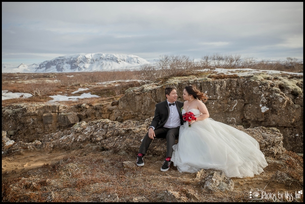 Thingvellir National Park Iceland Wedding Couples Portraits