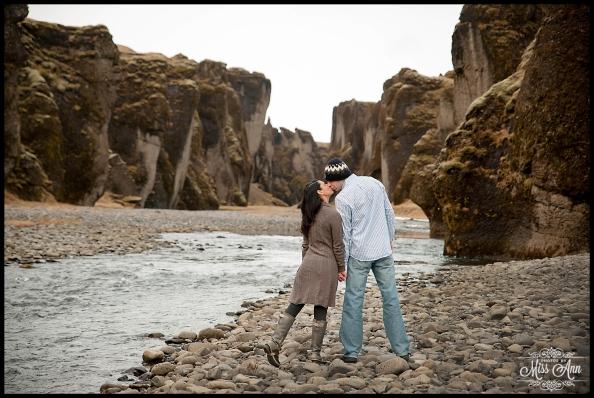 Iceland Engagement Post Wedding Session Fjadrargljufur Canyon Photos by Miss Ann