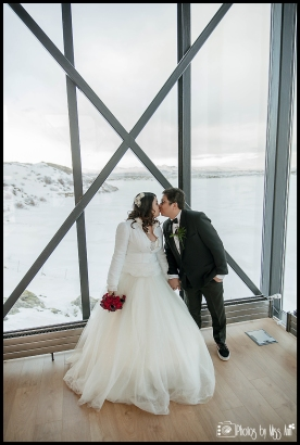 Iceland Wedding Kiss Northern Lights Bar at the ION
