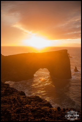Sunrise at the Dyrholaey Cliffs Iceland Wedding Anniversary Photo Session Photos by Miss Ann