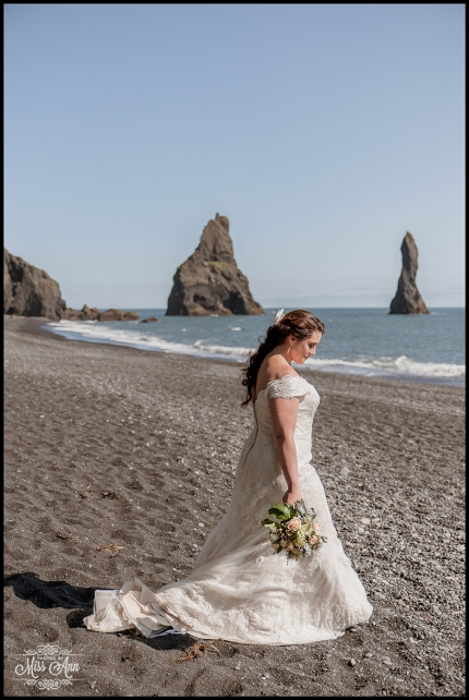 Bridal Photos Iceland Reynisfjara Beach Wedding