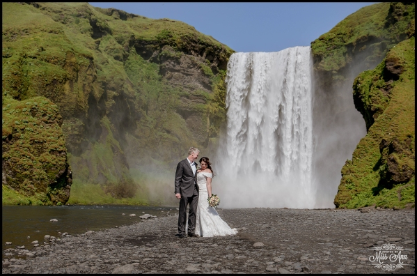 Iceland Wedding at Skogafoss Waterfall
