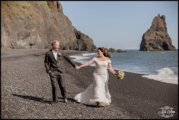 Iceland Wedding Photographer Reynisfjara Black Sand Beach