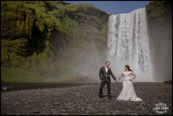 Iceland Wedding Photographer Skogafoss Waterfall 2