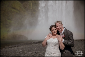 Iceland Wedding Photographer Skogafoss Waterfall