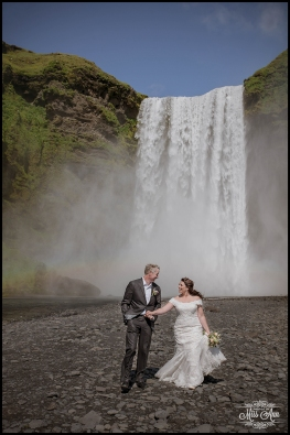Iceland Wedding Photos Skogafoss Waterfall Photos by Miss Ann