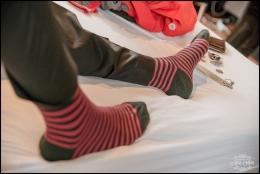 Iceland Groom Detail Red Striped Socks-9