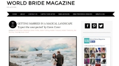 Iceland Wedding in World Bride Magazine