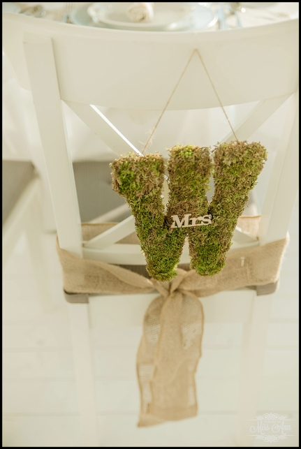Iceland Wedding Photos Moss Letter Chair Ties