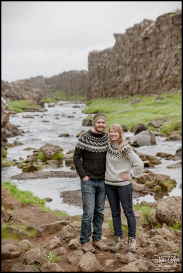 Oxararfoss Waterfall Engagement Session Iceland