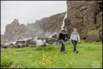Oxararfoss Waterfall Thingvellir Iceland Wedding Photographer