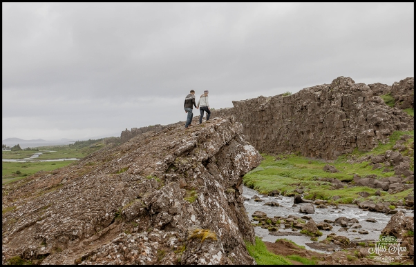 Oxararfoss Waterfall Thingvellir National Park Iceland Pre Wedding Session