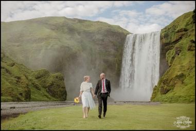 Iceland Wedding Elopement Skogafoss Waterfall