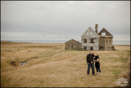 Iceland Engagement Session Photographer Photos by Miss Ann Abandoned House