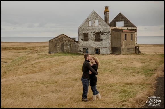 Iceland Engagement Session Photography at Abandoned house