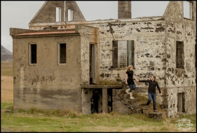 Iceland Pre Wedding Session on the Snaefellsnes Peninsula Abandoned House