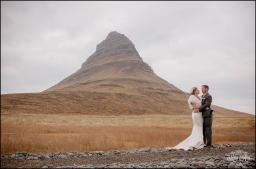 Iceland Wedding at Kirkjufellsfoss Mountain Photos by Miss Ann