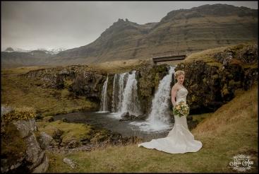 Iceland Wedding Dress Iceland Wedding Kirkjufellsfoss Waterfall