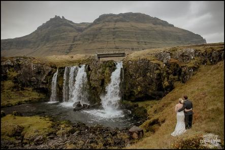 Iceland Wedding Kirkjufellsfoss Waterfall Photos by Miss Ann-1