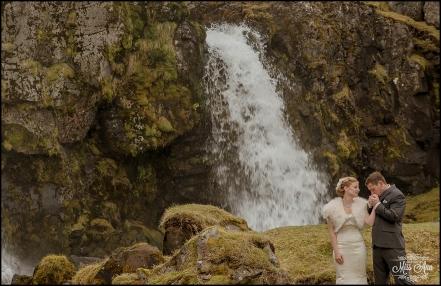 Iceland Wedding Kirkjufellsfoss Waterfall Photos by Miss Ann-5