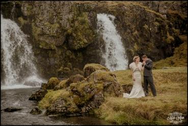 Iceland Wedding Kirkjufellsfoss Waterfall Photos by Miss Ann-6