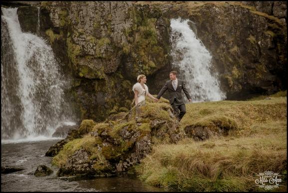 Iceland Wedding Kirkjufellsfoss Waterfall Photos by Miss Ann-8