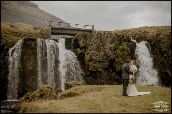 Iceland Wedding Kirkjufellsfoss Waterfall