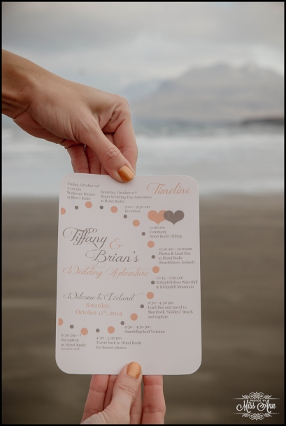 Iceland Wedding Timeline Card