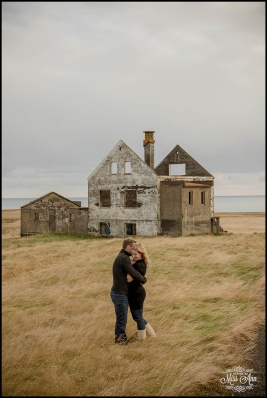 Romantic Iceland Pre Wedding Session at Abandoned House