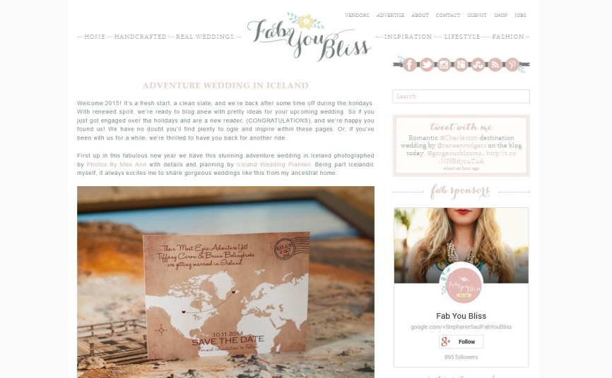 Iceland Wedding at Hotel Budir Featured on Fab You Bliss