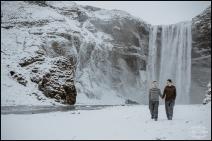Iceland Pre Wedding Session Skogafoss Waterfall Photographer