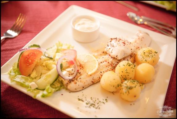 Iceland Wedding Reception Meal Arctic Char