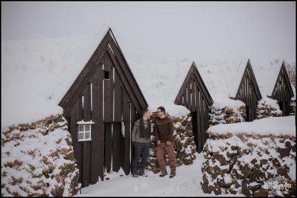 Keldur Sod Farm Iceland Engagement Session