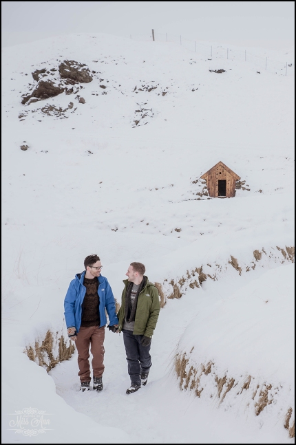 Romantic Iceland Winter Engagement Session