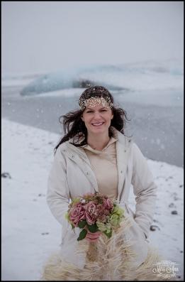 Bride Iceland Wedding Day Dress
