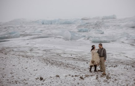 Iceland Winter Wedding Glacier Lagoon
