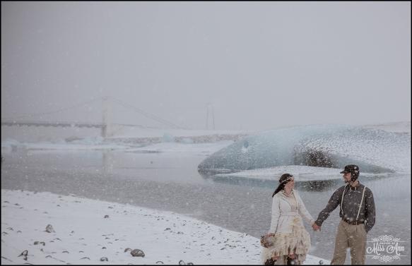 Iceland Winter Wedding Photos by Miss Ann