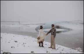 Snowy Iceland Wedding Day Glacier Lagoon