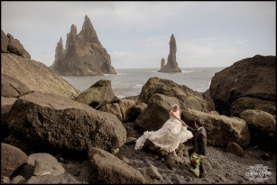 Black Sand Beach Wedding Iceland Photos by Miss Ann