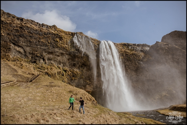 Iceland E-Session Seljalandsfoss Waterfall Photos by Miss Ann