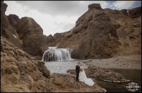 Iceland Waterfall Wedding Photos by Miss Ann
