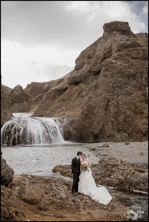 Iceland Waterfall Weddings Photos by Miss Ann