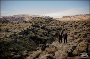 Iceland Wedding in Moss Covered Lava Fields