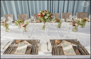 Iceland Wedding Reception Place Setting