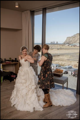 Icelandair VIK Bride Getting Ready Photos