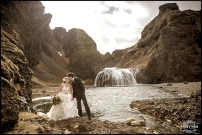 Stjornafoss Waterfall Wedding