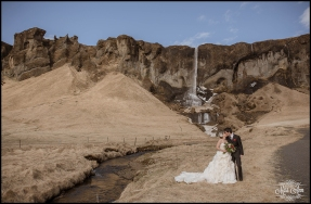 Super Secret Waterfall Iceland Wedding Photographer