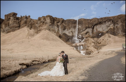 Super Secret Waterfall Iceland Wedding